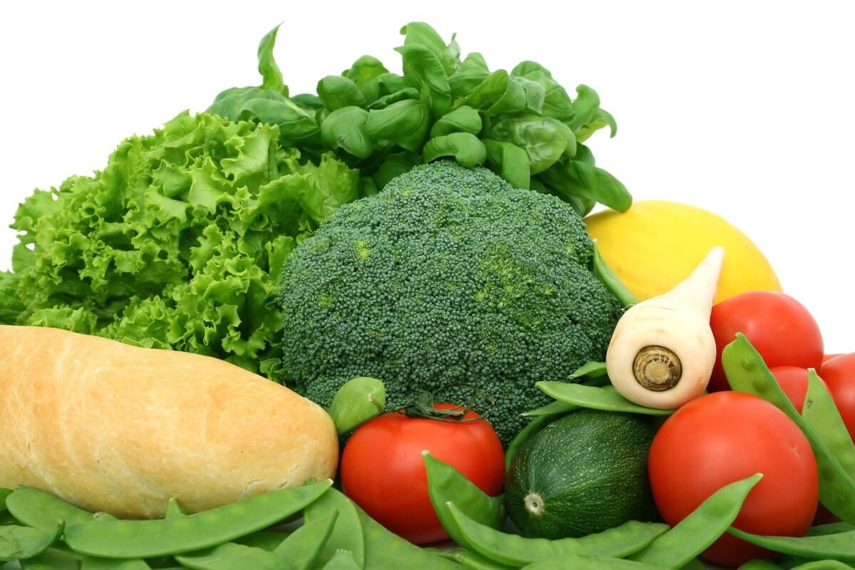 Alimentos ricos en fibra. Verduras